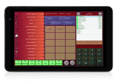 Tablet-Kassensystem von PosBill - aktuelles Metro-Design