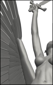 Female Angel Pose for Figure Drawing and Anatomy Reference