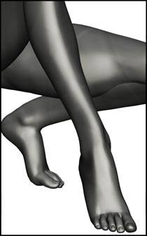 Female Crouching Figure Reference Pose for Anatomy Reference and Figure Drawing