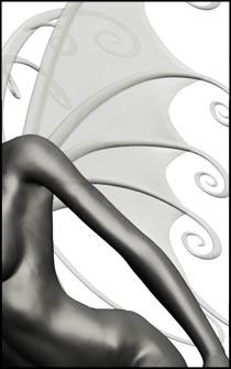 Nude Female Fairy Figure Reference Pose