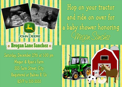 Free Printable John Deere Baby Shower Invitations Best Of Tractor Invitation Pink