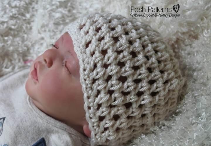 Free Lace Hat Crochet Pattern - Posh Patterns cd39d4d8c7a