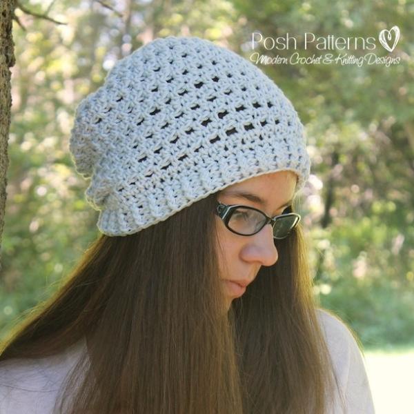 87a1e03ce7f Crochet Lamb Hat Pattern · free slouchy hat crochet pattern