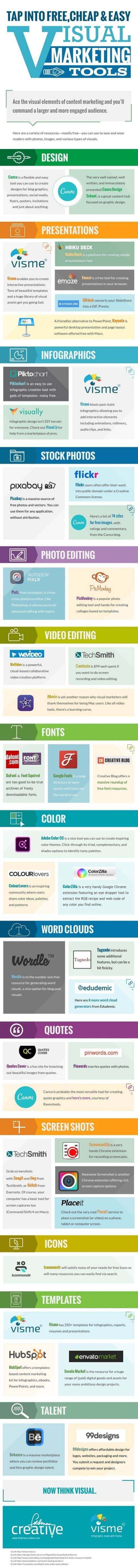 Herramientas para el marketing visual #infografía