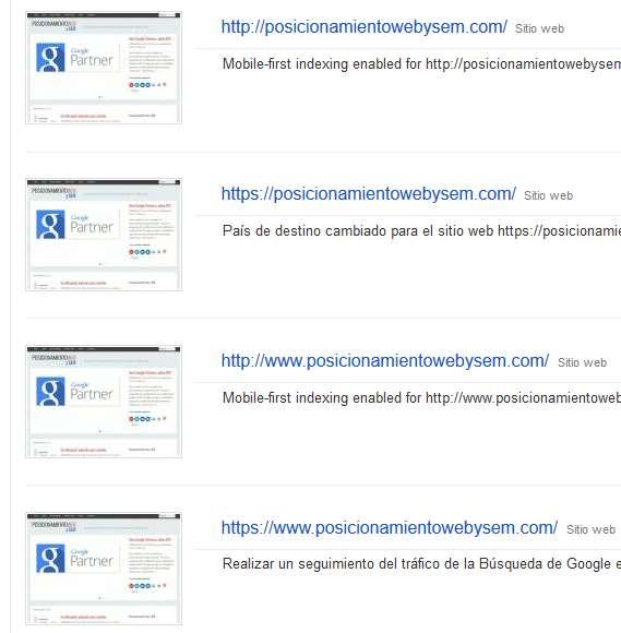 HTTPS en search console