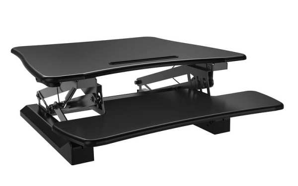 posidesk POSI203 medium executive sit stand desk black 5