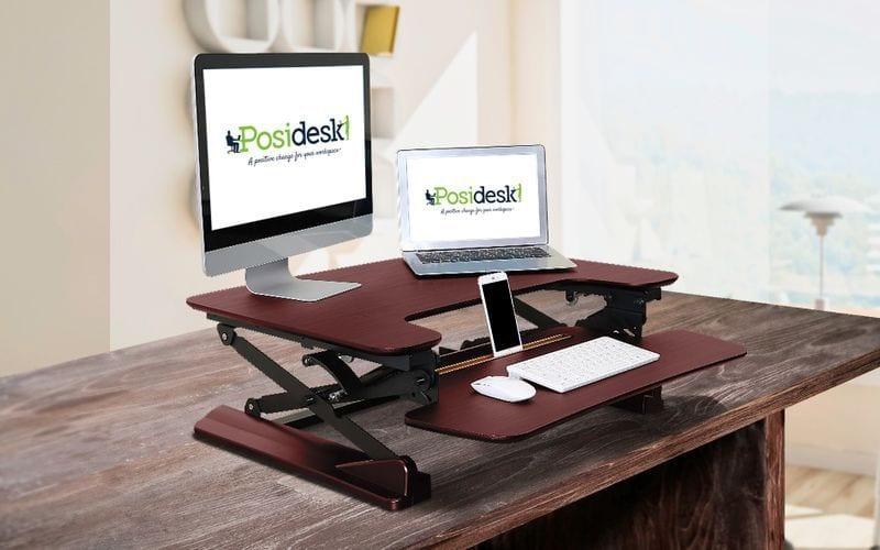 posidesk POSI201LWG sit stand desk 2