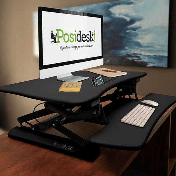 posidesk POSI203 medium executive sit stand desk black 2