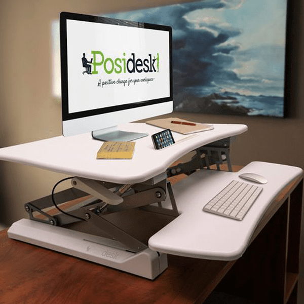 posidesk POSI203 medium executive sit stand desk white 2