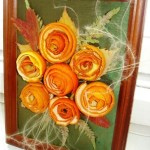 Framed orange peel roses
