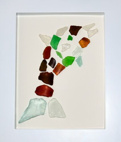Sea Glass Craft Idea: Framed Dolphin