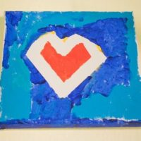 DIY Easy Canvas Art Project with Painters Tape for Kids