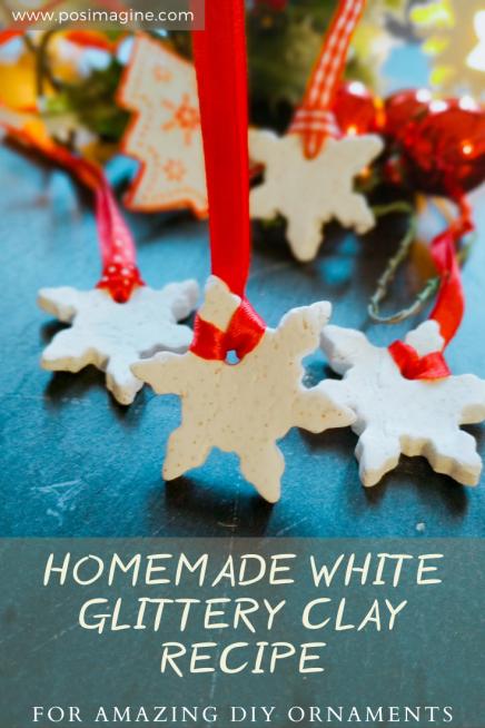DIY White Clay Ornaments homemade recipe
