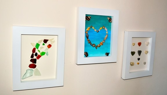 beach craft ideas framed sea treasures
