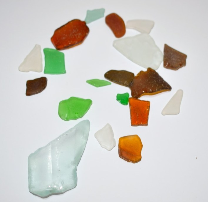 sea glass pieces