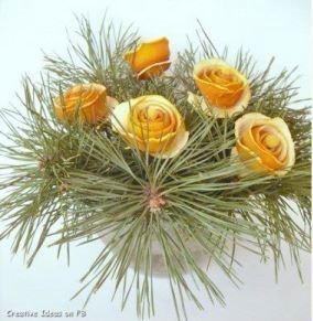 dried orange peel bouquet