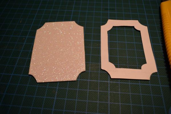 glitter foam photo ornaments frame