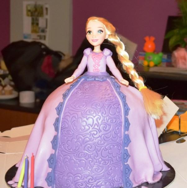 Tangled Birthday party Rapunzel Doll Birthday Cake