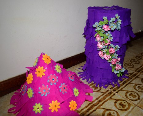 Cone and tube rapunzel pinata