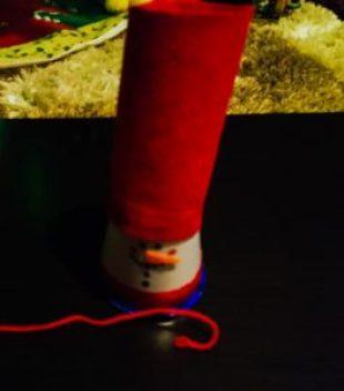 diy christmas ornaments snowman cylinder string_edited