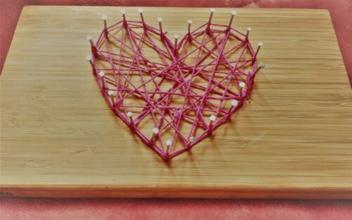 simple String art heart