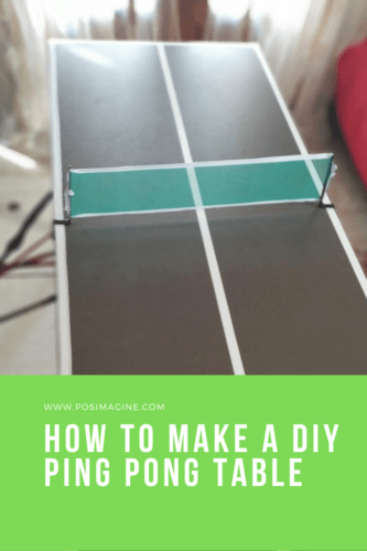 Our DIY Ping Pong Table for indoors how-to