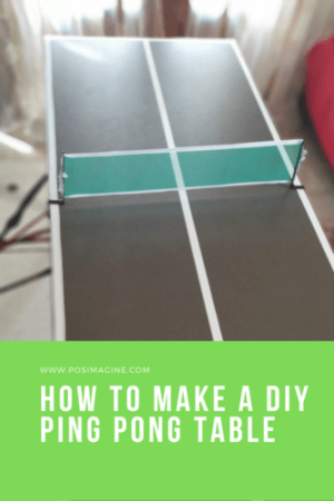 how to make a diy ping pong table for indoors