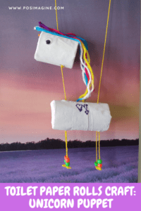 toilet paper roll craft unicorn puppet