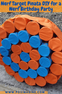Easy nerf target pinata for great birthday party fun