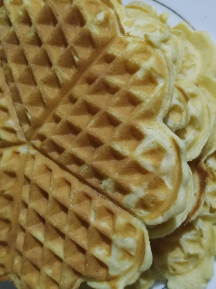 Yum! Hot waffle recipe ready to be served!