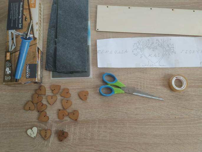 The materials you will need to make a wooden DIY Birthday Calendar