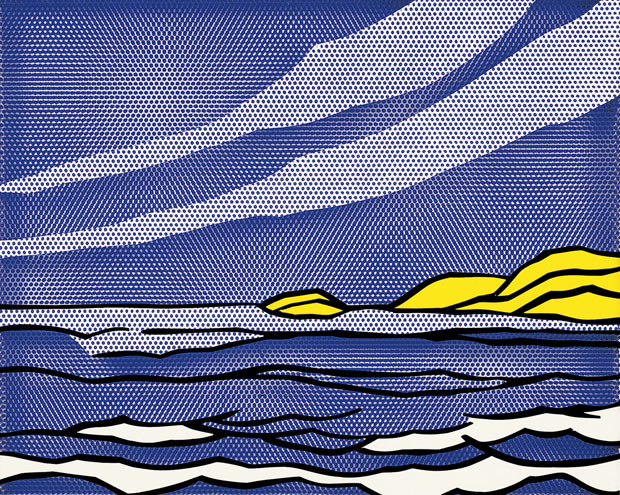 Roy Lichtenstein's Sea Shore (1964)