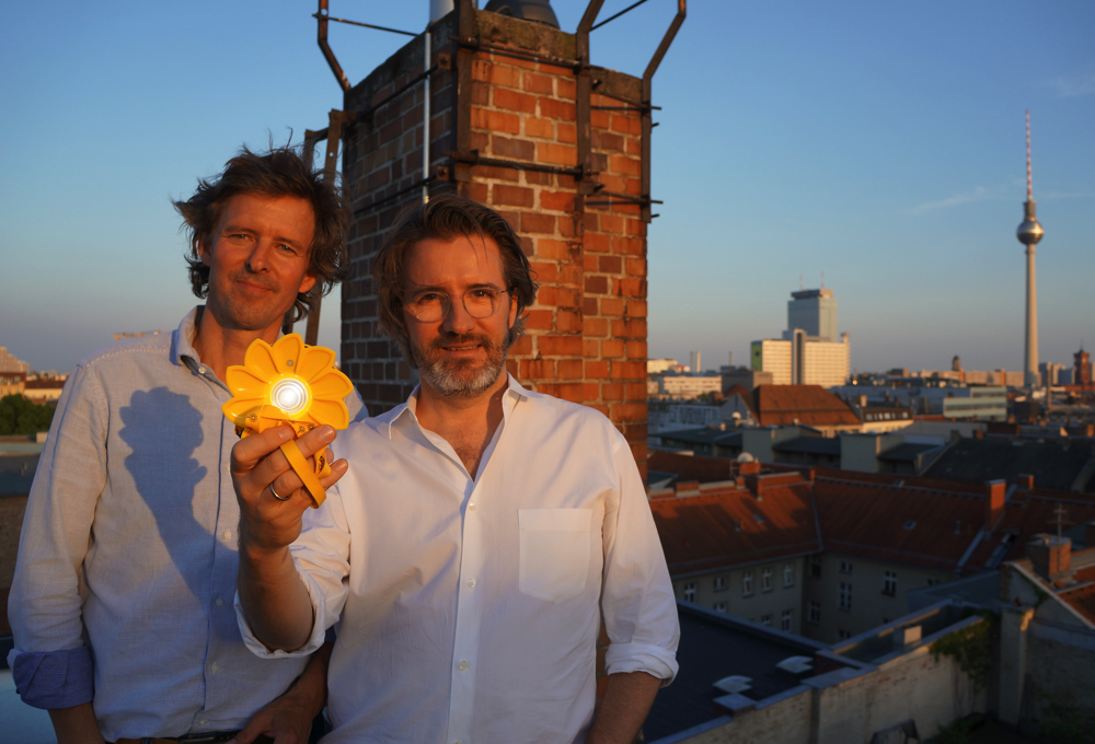 Little Sun founders Frederik Ottesen and Olafur Eliasson