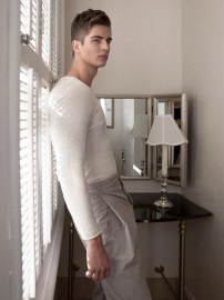 Pasha wears Tom Ford sweater SILENT Damir Doma pants