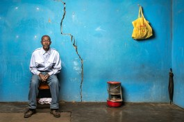 Sekhobe Letsie is 72 years old and worked in the gold mines for 38 years. He has silicosis and received no compensation.
