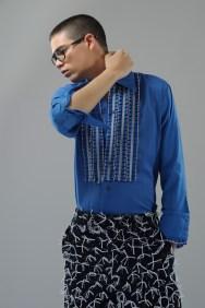 Shirt vintage A.N.G.E.L.O., trousers Studiopretzel, glas- ses Dsquared2