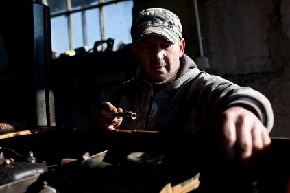 Mariouz, 40, lived in Dublin for 15 years working on sea trawlers. Due to illness in his family he moved home but had been away for so long he had no employment opportunities and now works on the Chudobczyce farm.