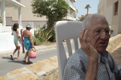 "Nuclear disaster in Almería, Spain. Joaquín is a fisherman of Villaricos, he was the neighbor's spokesman after disaster. Despite his efforts only to the people of Palomares got attention; the villages of Villaricos, Vera and Garrucha were never included in the subsequent Indalo Project, even finding a few distance from the radioactive components and therefore vulnerable to aerosols of plutonium powered by wind and possible leaks on land and sea . He remember well the first hours when neighbors quieted aircraft fire and rescued the pilots, without nuclear protection staff. ""We were a long time without being able to fish and we haven't received any aid"". From the terrace of his house, he marks the point in the sky where the accident occurred."