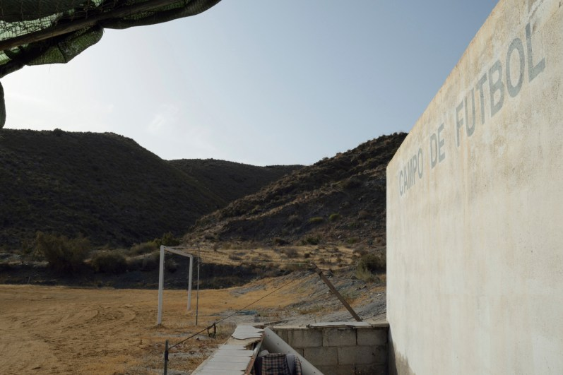Nuclear disaster in Almería, Spain. Behind the so-called zone6 is the football field of Villaricos village. And within walking distance there is an archaelogical and tourist complex that houses a Phoenician necropolis.