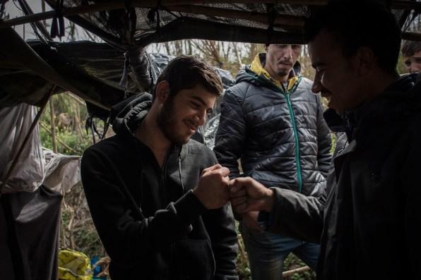 Mohamed, the Syrian, and Mohamed from Meknes, make their secret handshake