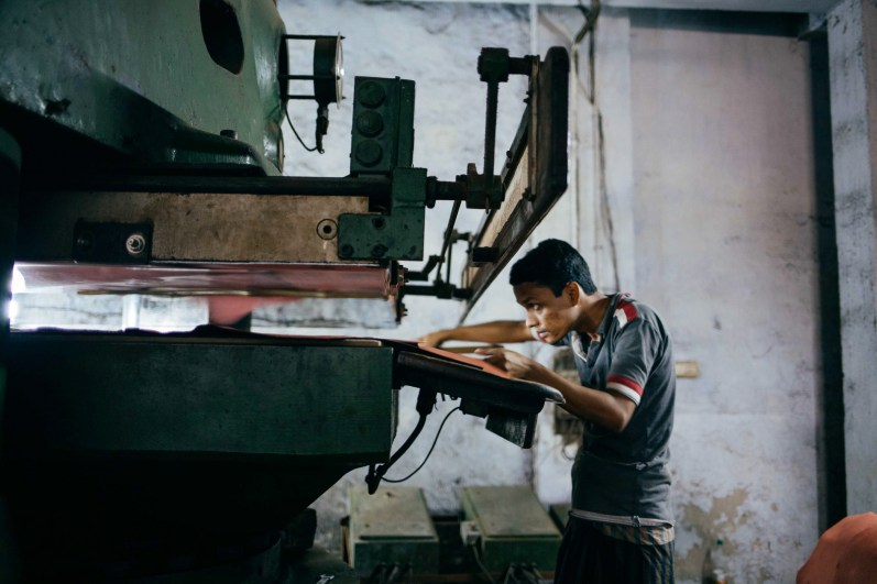 Accidents are commonplace inside the factories with little oversight regarding health and safety. Injuries include respiratory diseases, difficulties with eyesight from the chemicals in the air, as well as severed limbs.