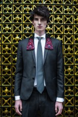 suit Marks & Spencer, shirt Valentino, tie Dior, embroidered necklace Nataly Uhryn