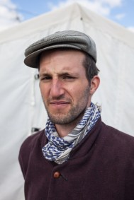 """Hannibal Bilom (32) wants to provide a friendly welcome in Europe to the newcomers. He just dug a deep furrow in the external borders of the camp so that the water that has aggregated in the middle of camp can retreat. For five weeks he helped at """"Better Days for Moria"""""""
