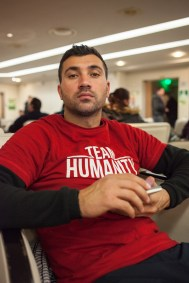 """Salam Aldeen (33) was arrested for human trafficking, because he saved people from the sea as a lifeguard with his Danish sea-rescue-team """"Team Humanity"""". """"In the 48 hours that my team has been captured, 8 people died in the Aegean Sea. Maybe we could have saved them."""""""