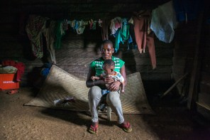 Morin is 17 years old. She is one among the thousands of teenage mothers in Cameroon. Bakumba, Cameroon. 2014