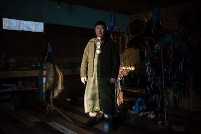 """Angarsk city, in the yurt of Local religious organization of shamans """"Forever blue sky""""."""