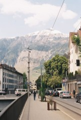 View of the mountains outside Chur