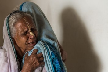 Sachirani Dasi (left) (70) became a widow at the age of 45. She has no children. Chapla Nath (right) has one son and two daughtes. She married at the age of 15. After eight years of marriage her husband passed away.