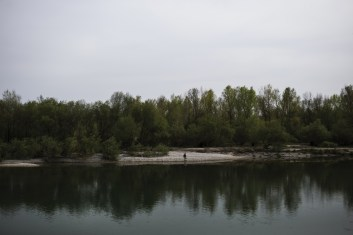 Gradisca, North East of Italy, 2 April 2016. Along the coasts of restless River Isonzo, that enters Italy through Gorizia, where asylum seekers have found a better refuge then the reception center, which is former barracks.