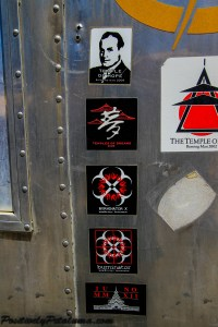 Past Year Temple Stickers: Photo By Wayne Dunbar